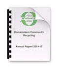 Homemakers Community Recycling Account 2014-2015
